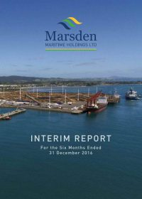 Interim Report to 31 December 2016 cover